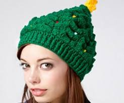 christmas tree hat knitted christmas tree hat