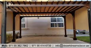 Attached Pergola Designs by Manufacturer And Install Wooden Pergola In Uae