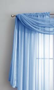 warm home designs baby blue window scarf valance sheer blue