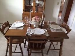 maple dining room table solid maple dining room set with hutch ebay