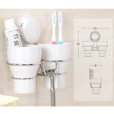 bathroom cup holder suction cup bathroom toothbrush cup holder