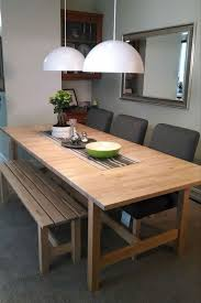 bench long narrow dining table width of room with regard to