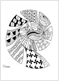 zentangle simple by 1 zentangle coloring pages for
