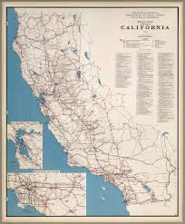 California Map Road Map Of The State Of California 1950 David Rumsey