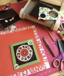 homemade christmas card how to make a view master spinner