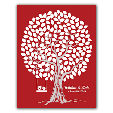 29 best custom fingerprint tree guest book for wedding baby