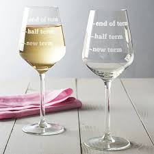novelty wine glasses gifts teachers wine glass by becky broome notonthehighstreet
