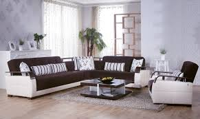 furniture ethan allen sectional sofas in brown with white windows