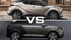 suv toyota 2017 2017 toyota ch r vs 2017 peugeot 3008 youtube