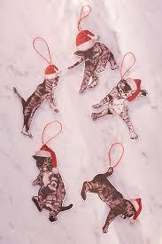 fa la la assorted animal ornament set of 5