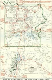 map us parks 1929 yellowstone and grand teton national parks map yellowstone