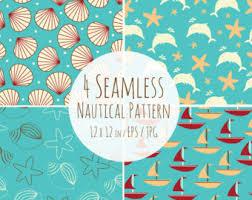 nautical wallpaper etsy