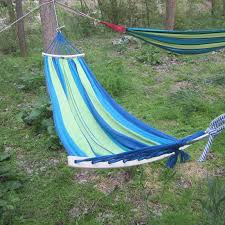260 150cm 1 or 2 person outdoor hammock swing new wood stick
