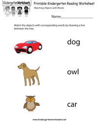 free kindergarten english worksheets printable and online reading