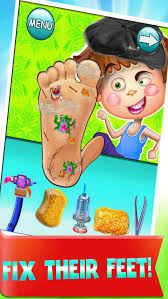 crazy stinky little foot doctor toe nail salon free fun games