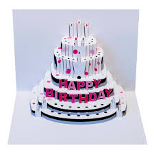 pop out birthday cards greeting card pink happy birthday cake amazing pop up laser