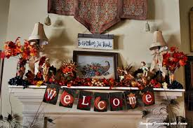 bargain decorating with laurie thanksgiving mantel