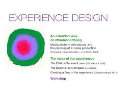 experience design experience design experience economy affordance theory