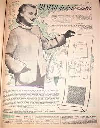 robeau de cuisine revue vintage le petit echo de la mode août 1952 avec patrons
