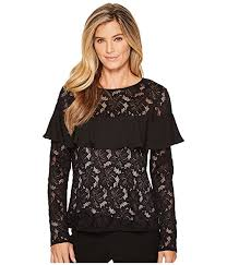 ivanka blouse ivanka stretch lace ruffle blouse at zappos com