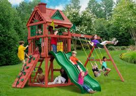 Small Backyard Swing Sets by Outdoor Yard Playsets Gorilla Swing Sets Swing Sets Sears