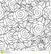 coloring book page design with floral seamless pattern stock