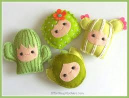 happy family set of four cactuses diy felt succulents cactus