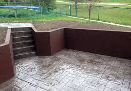 backyard entry with recessed patio stairs and walk alliance