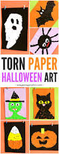 halloween torn paper art ideas kindergarten autumn and craft