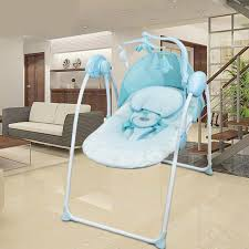 Baby Electric Swing Chair Super Soft Newborn Baby Cradle Remote Control Electric Rocking