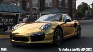 gold porsche 911 gold porsche 911 turbo s acceleration