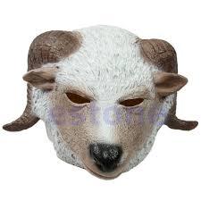 new horse unicorn animal head mask creepy halloween costume