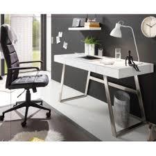 bureaux blanc laqué bureau design blanc laqué 3 tiroirs andria 140 cm