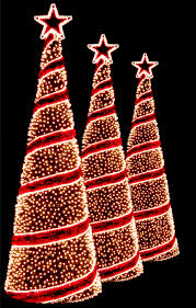marvelous design spiral lighted tree outdoor lit trees