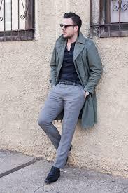 grey trenchcoat men u0027s fashion