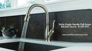 review kitchen faucets delta faucet 9178 ar dst review best pull kitchen faucet