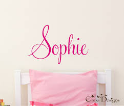 personalized name custom name vinyl wall decal sticker zoom