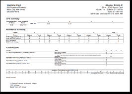 blank report card templates conventional report card preferences infinite campus click to enlarge
