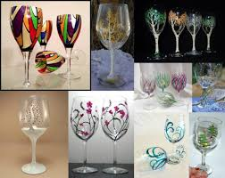 Make & Take Painted Wine Glasses Crafts Painting Classes San