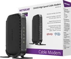 netgear docsis 3 0 cable modem black cm400 100nas best buy