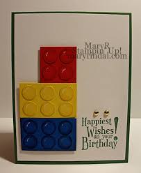 scrap and stamp with mary lego birthday card