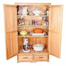 Wooden Kitchen Cabinet Oak Kitchen Pantry Storage Cabinet Home Furniture Design Kitchen