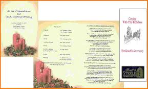 Funeral Ceremony Program 7 Free Memorial Service Program Template Itinerary Template Sample