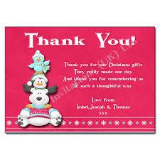 polar bear christmas thank you note