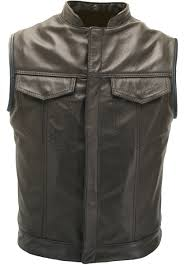 armored leather motorcycle jacket customize your sons of anarchy style vest all colors and sizes