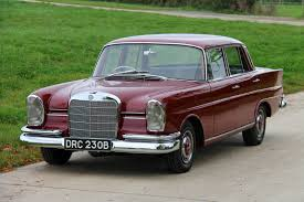 classic red mercedes mercedes benz 1964 220s fintail saloon 516 medium red