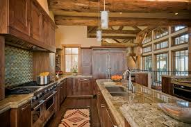 Cabin Kitchen Cabinets Cabin Kitchen Cabinets Kitchen Rustic With Cabin Ceiling Lighting