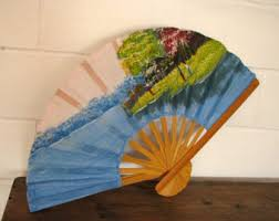 held paper fans held fan etsy