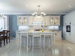 Bright Art Deco Kitchen Design Glassfront Cabinets Stainless - Art deco kitchen cabinets