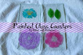 painted glass coasters martha stewart crafts dukes and duchesses